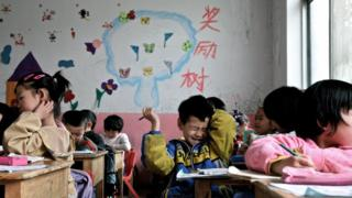 Children in a kindergarten for migrant workers' families, Beijing (file photo - April 2012)