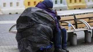 Londra'da bir evsiz