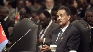 Issayas Afeworki, président de l'Erythrée