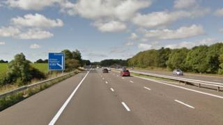 Junction three of the M55