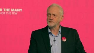 Jeremy Corbyn at a campaign rally on Saturday