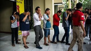 Задержанные в городе Сурабайя