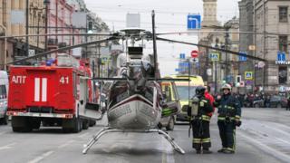 Вертолет на месте происшествия