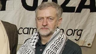 Jeremy Corbyn 2009 yılında Gazze için düzenlenen bir etkinlik sırasında.