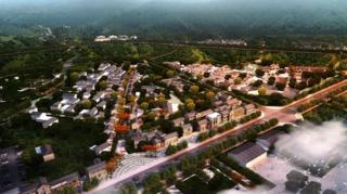 Artist's impression of Sanweng Town, China