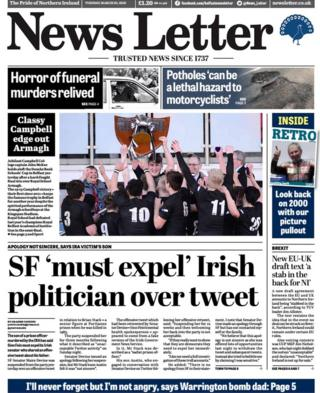 News Letter front page, 20 March