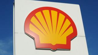 Shell petrol station sign