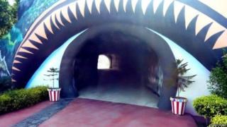 डेरा सच्चा सौदा में राम रहीम के महल में जाने का रास्ता जो एक गुफा से मिलता जुलता है
