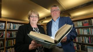 Director of BBC NI Peter Johnston and Irene Knox, Chief Executive of Libraries NI