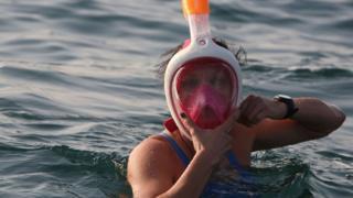 Участница заплыва