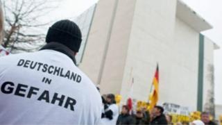 Протесты в Берлине в 2016 году