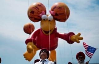 Представник громади сикхів на параді у Вашингтоні.
