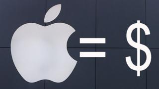 Un logotipo de Apple y un símbolo de dólar