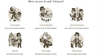 Telegram messenger website screengrab