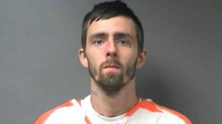 """A handout photo made available by the Walker County Sheriff""""s Office shows inmate Brady Andrew Kilpatrick, in Jasper, Alabama"""