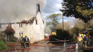 Alton Pancras thatch fire