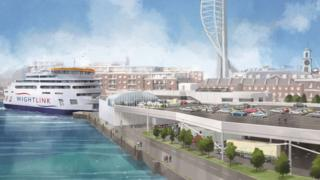 Artist's impression of Portsmouth terminal