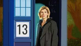 ภาพตัวละครใหม่ของซีรีย์เรื่อง Doctor Who ที่สร้างจากไมโครซอฟท์เพ้นท์ของผู้ใช้งานทวิตเตอร์ชื่อ @foxymulderx