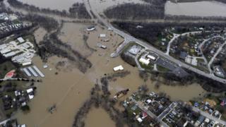 Flooding in Union, Missouri. 29 Dec 2015