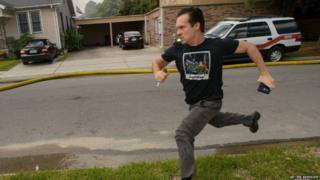 Gideon Hodge running