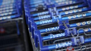 Tesco trolley handles at angle