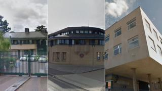 Braintree, Colchester and Chelmsford police stations