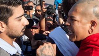 Столкновение во время акции протеста