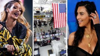 Rihanna, aeropuerto JKF y Kim Kardashian.