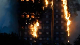 La Torre Grenfell de Londres en llamas.