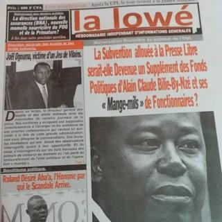 """Au Gabon, le journaliste Basile Maurice Magna-Bouani, directeur de publication du journal """"La Lowé"""", a passé sa première nuit en prison."""