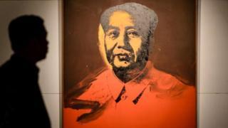 Bức Mao màu đỏ của Andy Warhol vừa được bán tại Hong Kong với giá trên 12 triệu USD