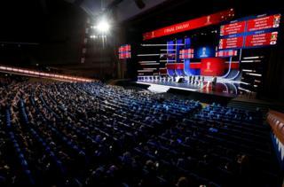 2018年世界杯小組抽籤儀式在莫斯科舉行。