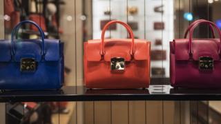 A generic image of handbags