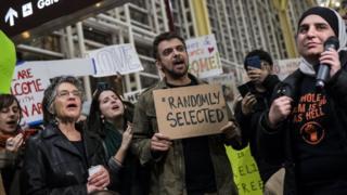 Протесты мигрантов