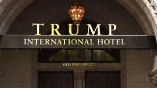 Trump hotel entrance
