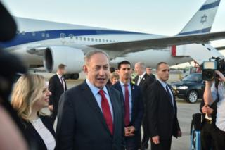 Netanyahu dan isterinya, Sara, tiba di Bandara Sidney.