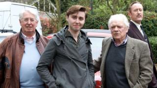 Sir David Jason with Gareth Gwenlan (right)