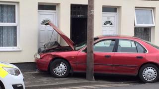 Car after crashing