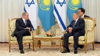 Нетаньяху и Назарбаев