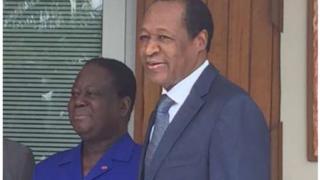 Henri Konan Bédié et Blaise Compaoré