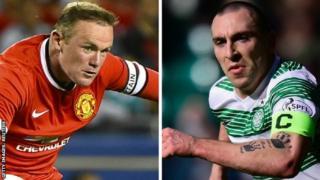 Wayne Rooney and Scott Brown