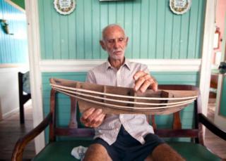 Scene from documentary Vanishing Sail