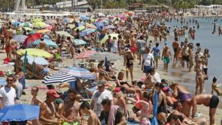 Beach in Alicante, eastern Spain