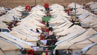 UN-run refugee camp in Syria
