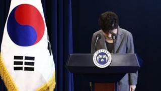 Tổng thống Park Geun-hye của Hàn Quốc nói bà đã yêu cầu quốc hội giúp bà tìm cách để bà từ chức.