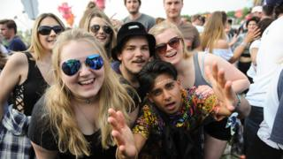 Young people at Oxford music festival