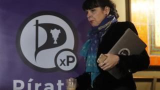 Birgitta Jonsdottir of the Pirate Party in Reykjavik. Photo: 30 October 2016
