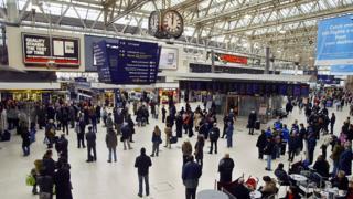 People at Waterloo station