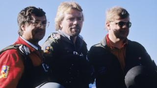 The Virgin team with Sir Richard Branson