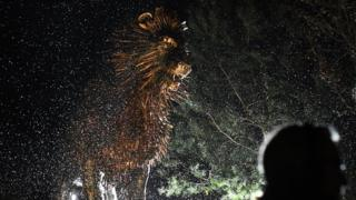 A statue of CS Lewis' most famous character, the lion Aslan, from The Chronicles of Narnia, was revealed to the public